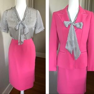 Vintage Hot Pink Barbie Le Suit Woman's Suit S/M